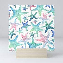 Starfish Pattern Mini Art Print