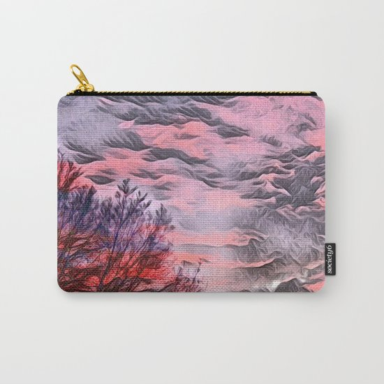 A German Sunset Sky with Tree (Landscape Nature) Carry-All Pouch