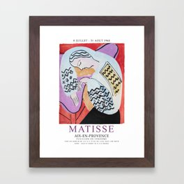 Matisse Exhibition - Aix-en-Provence - The Dream Artwork Framed Art Print