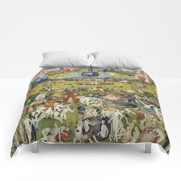 THE GARDEN OF EARTHLY DELIGHT - HEIRONYMUS BOSCH Comforters