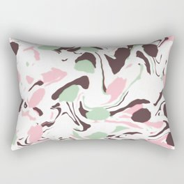 Stirred colors on white Rectangular Pillow