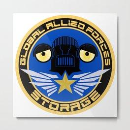 Global Allied Forces Storage Metal Print