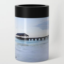 Hanalei Bay Pier at Sunrise Can Cooler
