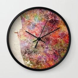 Colombo map Wall Clock