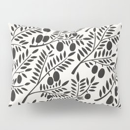 Black Olive Branches Pillow Sham