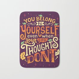 Thoughts are only thoughts Bath Mat