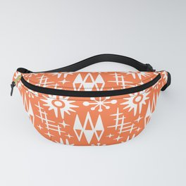Mid Century Modern Atomic Space Age Pattern Orange Fanny Pack