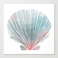 shell Canvas Prints featuring Shell by Adara Sánchez Anguiano