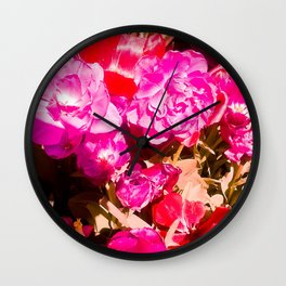 The beauty of the colors. Wall Clock