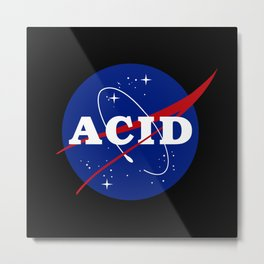 Acid Nasa Parody Metal Print