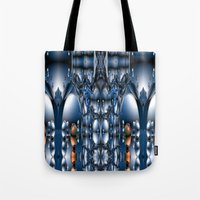 blade runner Tote Bags featuring Blade Runner by Robin Curtiss