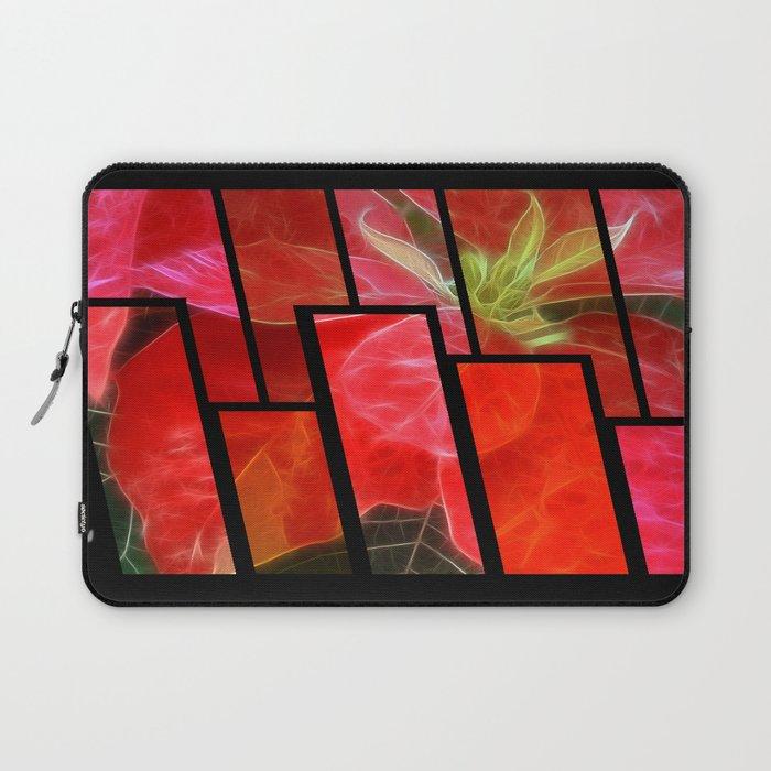 Mottled Red Poinsettia 1 Ephemeral Tinted 1 Laptop Sleeve