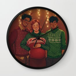 Christmas Portrait Wall Clock