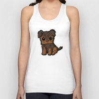 caleb troy Tank Tops featuring Troy - Silky Terrier by Sylvester Pyke