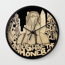 Weeping Angels Wall Clock
