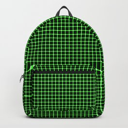 Neon Green & Black Optical illusion Backpack