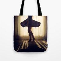 dancer Tote Bags featuring Dancer by Kameron Elisabeth
