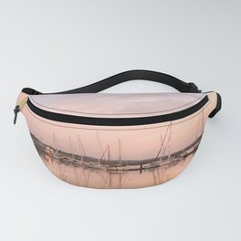 Pink sundown at the sea Fanny Pack