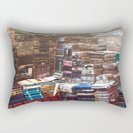 Bookworm Book Stacks Stairs of Knowledge Rectangular Pillow