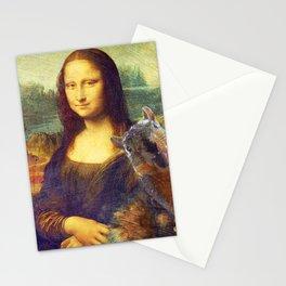 Mona Lisa Squirrel Photo Bomb Pop Art Stationery Cards