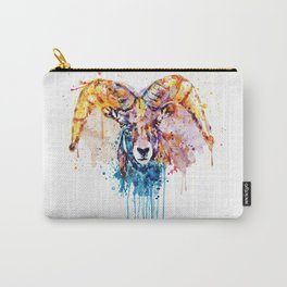 Bighorn Sheep Portrait Carry-All Pouch