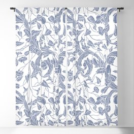 Vintage & Shabby Chic - William Morris Floral  Pattern Blackout Curtain