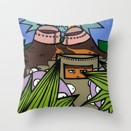 STEP BACK! THIS is OUR ELECTROMAGNETIC RECHARGING STATION! Throw Pillow