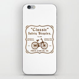 Classic Safety Bicycles iPhone Skin