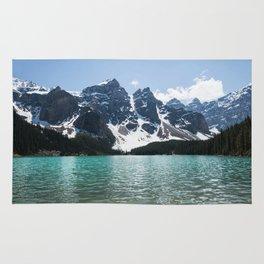 Landscape Lake Moraine Mountains Rug