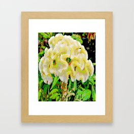 Flower colors reflect the unique brain like a beautiful watercolor Framed Art Print