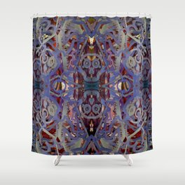 Skulls Purple Rouge Shower Curtain