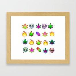 Alien Drug Baby Framed Art Print