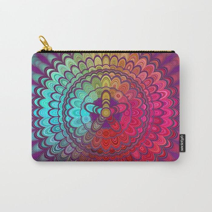 Mandala Flower Wheel Carry-All Pouch