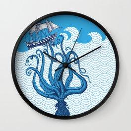 Octo-shipwreck Wall Clock