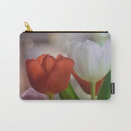 Two Tulips on a pastel background Carry-All Pouch