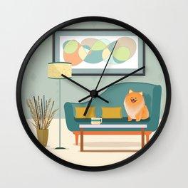A Pomeranian Makes A House A Home Wall Clock