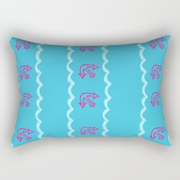 Mermaid Banana Show Rectangular Pillow