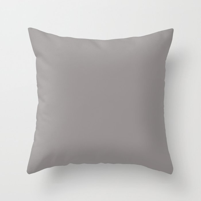 Sherwin Williams Slate Violet (Muted Grayish Purple) SW 9155 Solid Color Throw Pillow