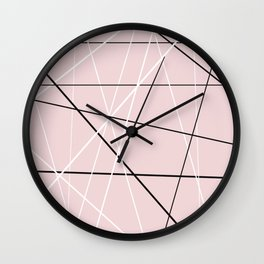 lines on pink Wall Clock