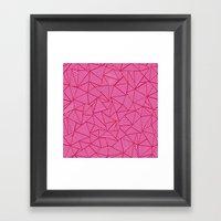 Ab Linear Hot Pink Framed Art Print