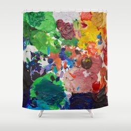 Palette of Colors Shower Curtain