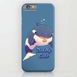Deadly Cute Orca // Kawaii Whale, Sea Life, Animals iPhone Case