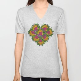 Flowers of Love Unisex V-Neck