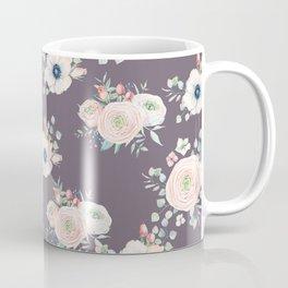 Dog Rose Pattern  Mauve Coffee Mug