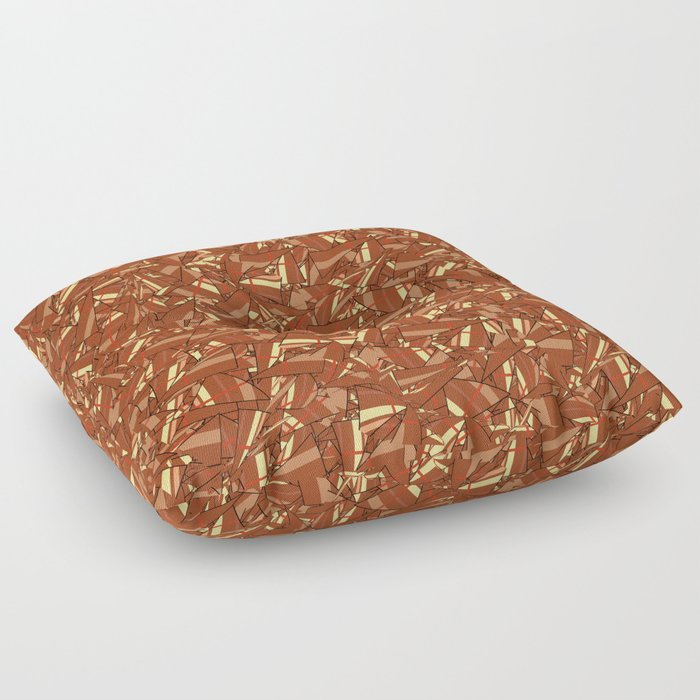 Chocolate Brown Abstract Floor Pillow