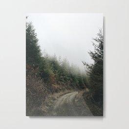 Foggy Backroad. 🌲 Metal Print