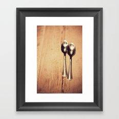 Two spoons Framed Art Print