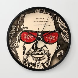 """The Dude Abides"" featuring The Big Lebowski Wall Clock"