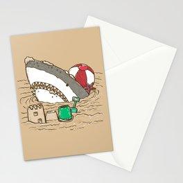 Sandy Beach Shark Stationery Cards