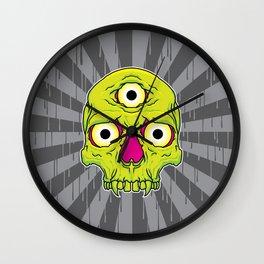 3 Eyed Jackass (green) Wall Clock